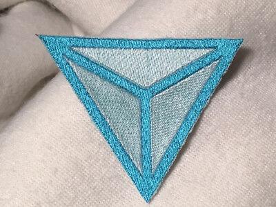 Identity Europa Logo Embroidered Patch Iron-On Backing Light Blue/White  Evropa   eBay