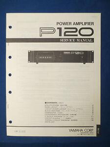 yamaha p120 amplifier service manual factory original good condition rh ebay com yamaha r100 manual yamaha p120 manual download