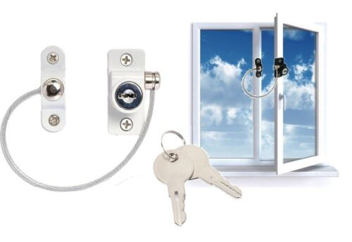 Child Safety Window Lock White Window Cable Restrictor Child Proof Security Wire
