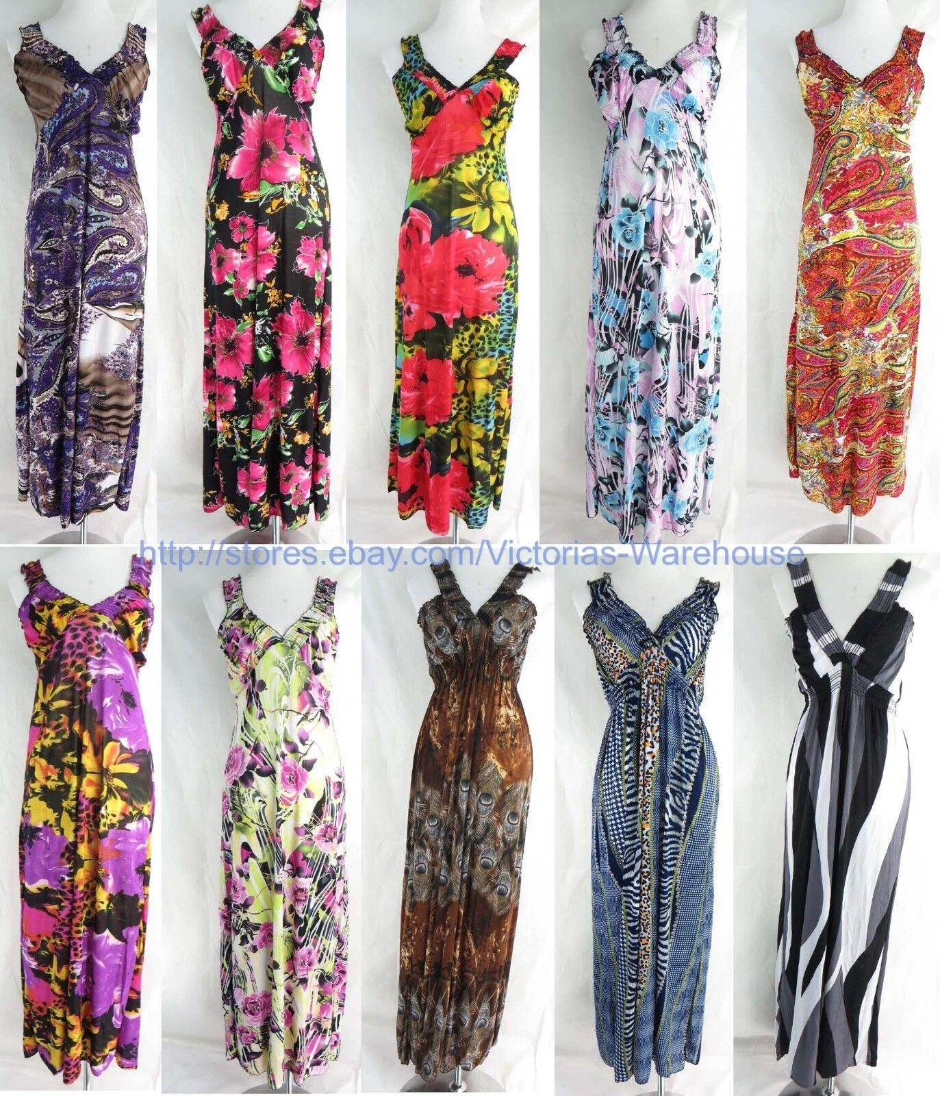 72adf595fa Wholesale 10 long dress maxi sundress beach summer Women's Clothing ...