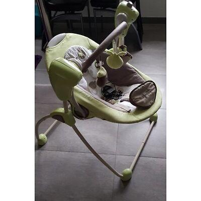 Babywippe Elektrisch mit Schaukelfunktion und Musik von Babymoov in Grün/Grau