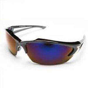 Edge Eyewear SDK118 Khor Black with Blue Mirror Lens