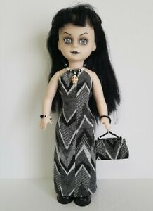 Living Dead Doll Clothes Goth Dress, Purse and Skull Jewelry Fashion NO DOLL d4e