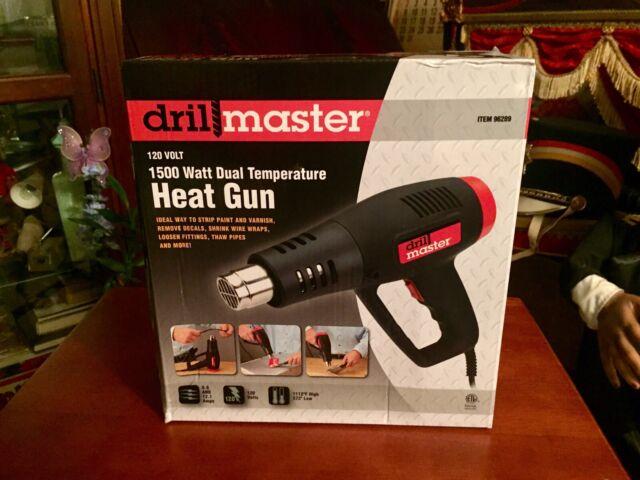 Drill Master 120 Volt 1500 Watt Dual Temperature Heat Gun