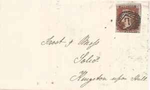 GB-QV-1846-WRAPPER-PENNY-RED-IMPERF-FD-TO-HULL-FROM-LONDON-PMK-11-IN-DIAMOND