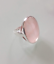 BRAND-NEW-STERLING-SILVER-LARGE-OVAL-RING-SET-WITH-A-ROSE-QUARTZ-CABOCHON-J-R thumbnail 1