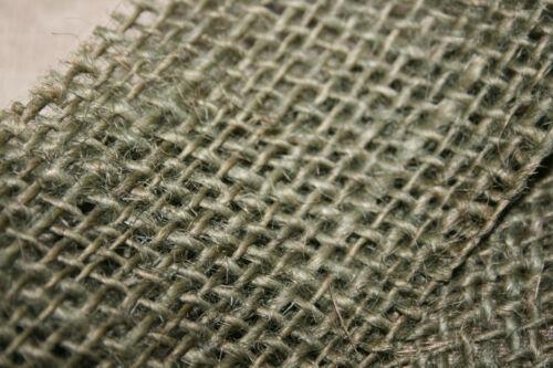 WWII ARPILLERA PARA CASCO HELMET HESSIAN SCRIM 1 m verde  yute