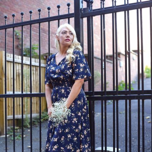 The Olivia vestido de mujer patrón de costura UK Size 6-20 el patrón predicador