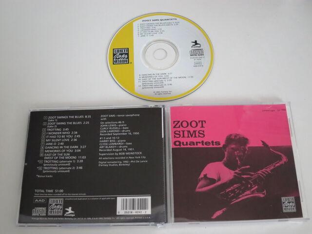 ZOOT SIMS/QUARTETS(PRESTIGE/OJCCD-242-2(P-7026) CD ALBUM