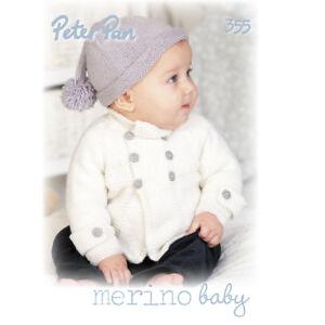 d74e37ec39de Image is loading Peter-Pan-Merino-baby-Double-knitting-pattern-book-