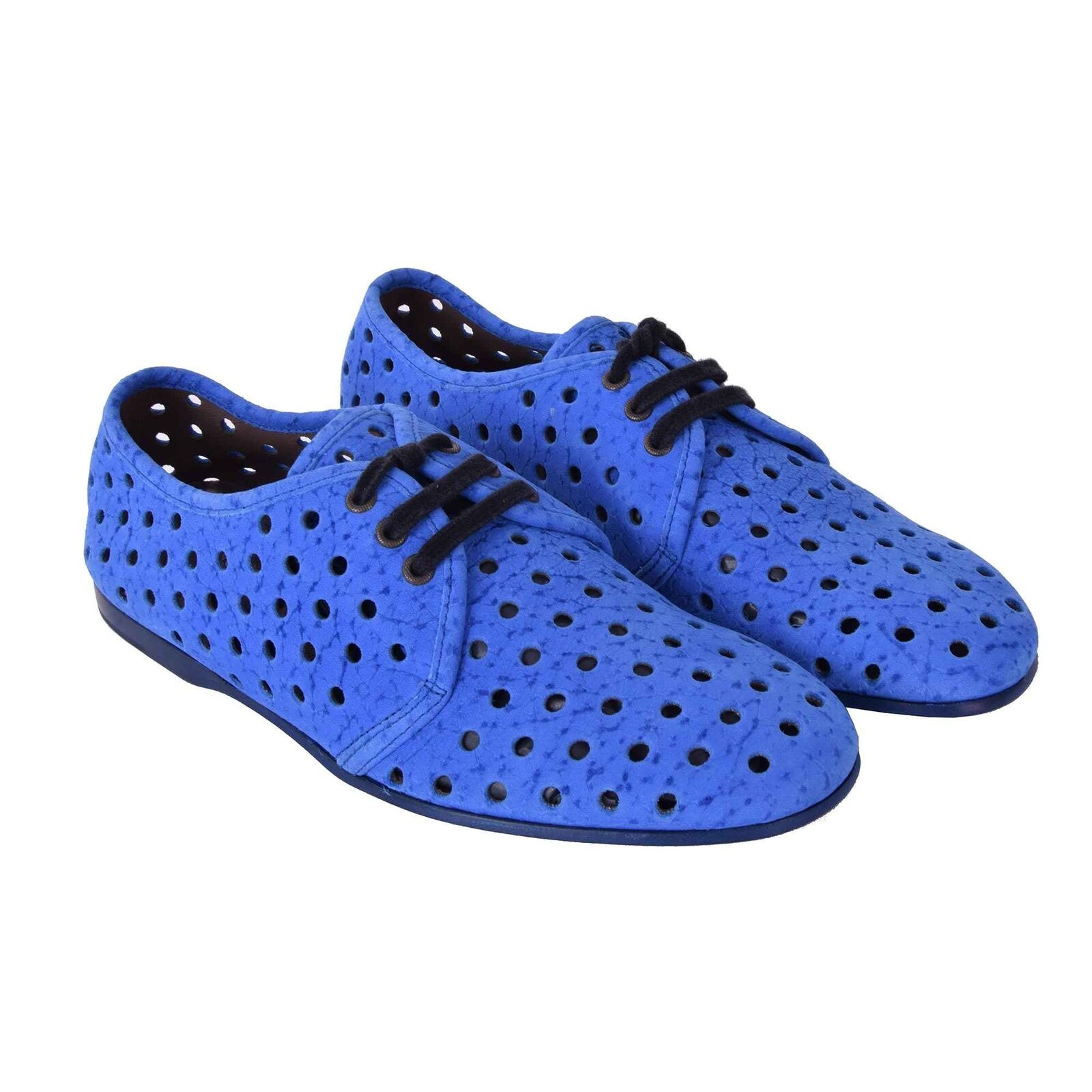 DOLCE Derby & GABBANA Perforierte Wildleder Derby DOLCE Schuhe AMALFI Blau Schuhes Blau 05917 a7b7e6