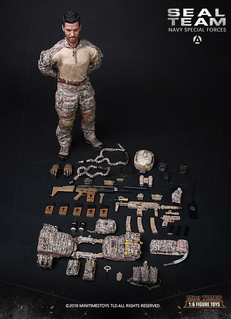 Mini times toys1 6 M012 Ratio US Army Seal Combat Team A Figure Collection