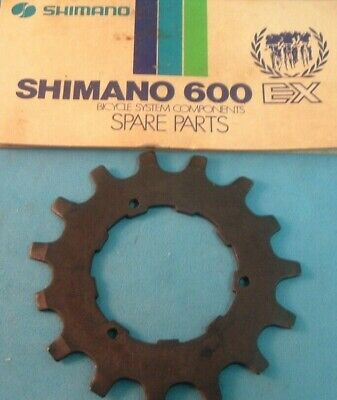 Fits All UG NOS Shimano 600 EX 15T Cog UniGlide Cassette Brown NEW HG