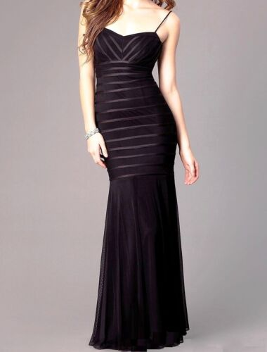 NWT BETSY /& ADAM Black Striped Sweetheart Dress Formal Evening Gown  4,6,8,12