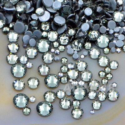 600PCS Mixed Size DMC Iron On Hotfix Crystal Rhinestones Flatback Nail Art Pick