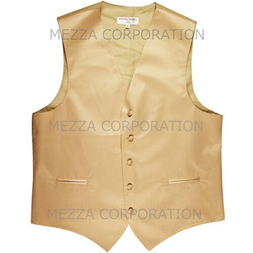 New Men/'s Vesuvio Napoli Tuxedo Vest Waistcoat only prom wedding party Beige
