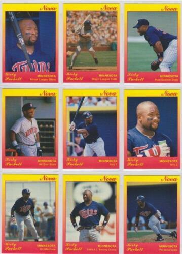 Kirby Puckett 1991 Star Company Minnesota Twins 9-card Nova Series BB Set #//500
