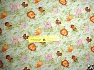 JUNGLE  BABIES - Animals in Jungle  Coordinating Fabric - Faces  BTY