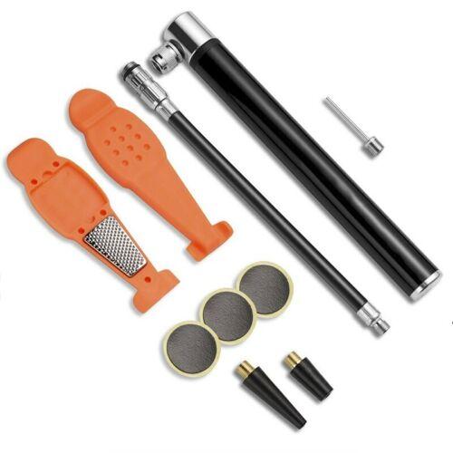 Portable High-Pressure Pump Bike Hose Gauge Bicycle Adapter  Tire Inflator Air