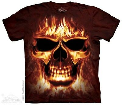 New The Mountain Skull Fire T Shirt