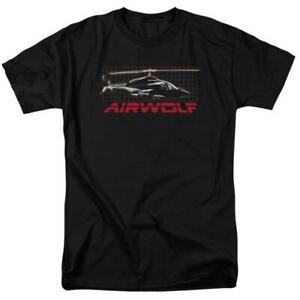 Airwolf-helicopter-t-shirt-retro-80-039-s-action-TV-series-adult-graphic-tee-NBC501