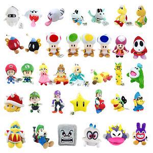 Super Mario Bros Plush Toy Dry Bones Parabones Koopa Troopa Toad
