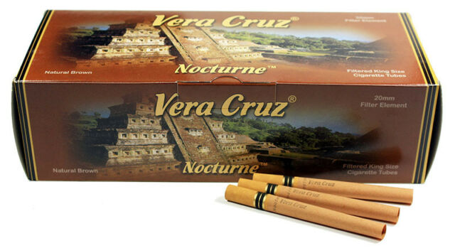 5 (Five) Vera Cruz Nocturne Cigarette Tobacco Tubes (200ct Carton) RYO/MYO