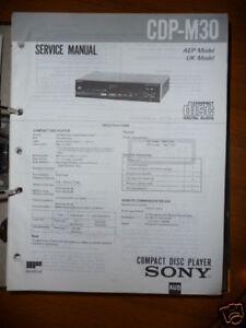 Service Manual Sony Cdp-m30 Cd-player,original Anleitungen & Schaltbilder