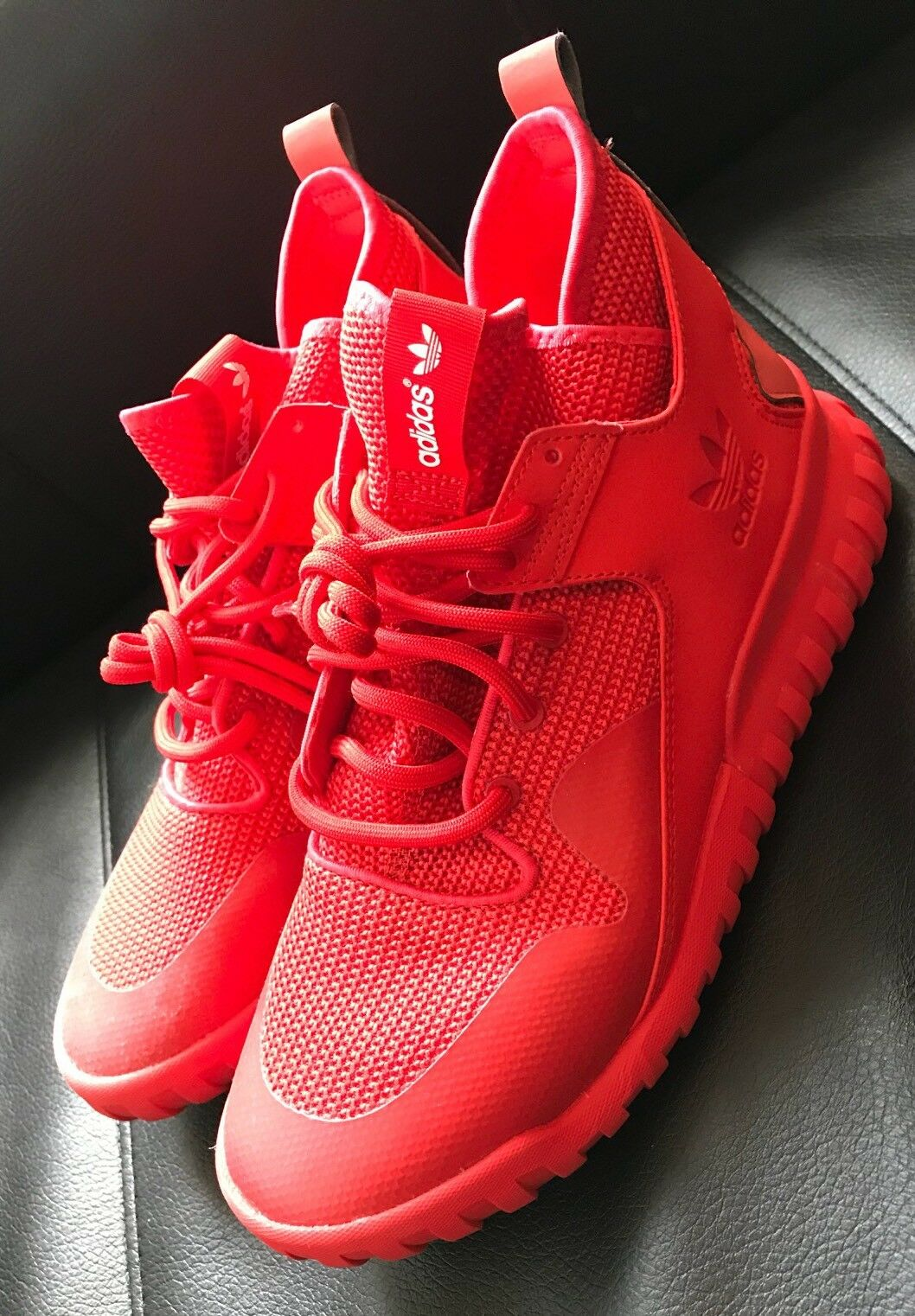 adidas Originals Tubular X Men's Red/Red AQ5452 RARE Size 9 SOLD OUT Instantly!!