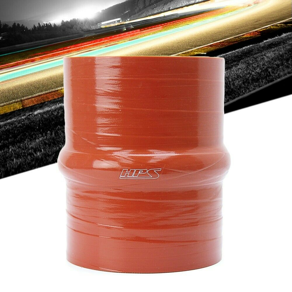 2.76 OD 60 psi HPS ST-238-HOT Ultra High Temperature 4-Ply Aramid Reinforced Tube Couper Hose Orange 12 Length Silicone 2.38 ID