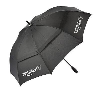 GENUINE Triumph Motorcycles Large Golf Type Umbrella Black NEW 2016