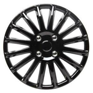 Details about TopTech Speed 14 Inch Wheel Trim Set Gloss Black Set of 4 Hub Caps Covers