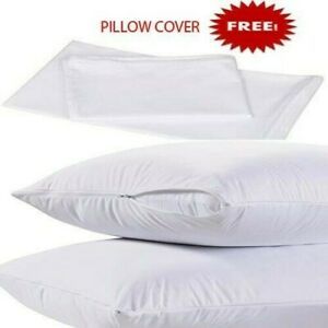 Pair-20x36-King-Size-Down-Polyester-Pillows-w-2-FREE-Zippered-Pillow-Covers
