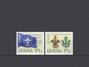 LITHUANIA, EUROPA CEPT 2007, SCOUTS THEME, MNH