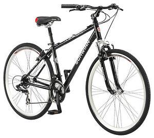 700c Schwinn Men S Midmoor Comfort Hybrid Bike White Black Ebay
