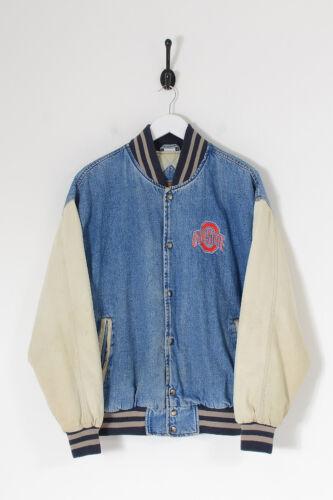 Vintage Men's Ohio State Denim Varsity Jacket Mid