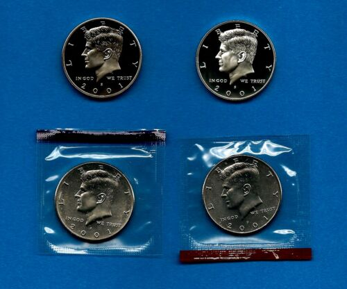 1998 P D S S Kennedy Half Dollar Year Set Silver /& Clad Proof /& BU US 4 Coin Lot