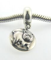 790876 Retired Pandora Sterling Silver Dangle Pig Chinese Zodiac Bead Box