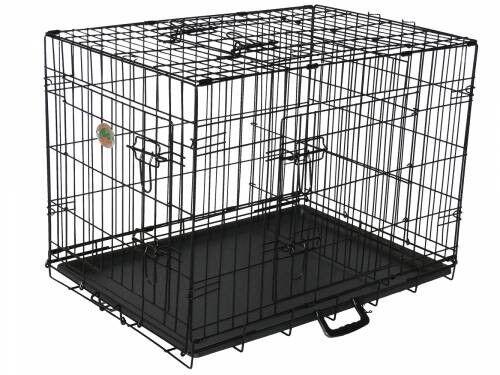 Go Pet Club TD30 30 in. ThreeDoor Metal Dog Crate with Divider