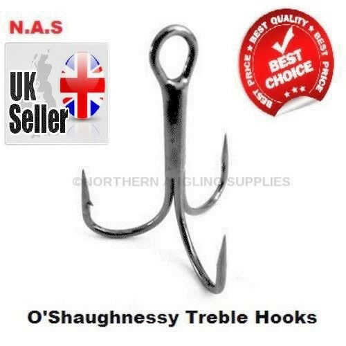 6c980f708 O shaughnessy Treble Hooks All Sizes   Qty 5 10 or 25pc Super Sharp Hooks  4 0 20 for sale online