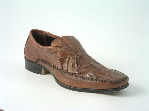 cuir en pour style Chaussures onglet décontracté à brunes hommes RqzZEtnHwE
