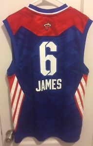 san francisco 93458 9c550 Details about LeBron James 2013 Nba All Star Jersey Men M Sewn Heat Lakers  #23 Adidas King Vtg