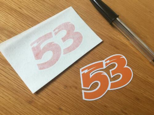 Very Small Pair Tito Rabat Race Numbers 53