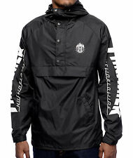 MENS HUF X Thrasher TDS Black Anorak Windbreaker Jacket X-LARGE
