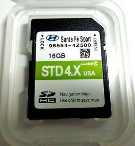 OEM Hyundai Santa Fe Sport Navigation SD Card US Map - Us map santa fe
