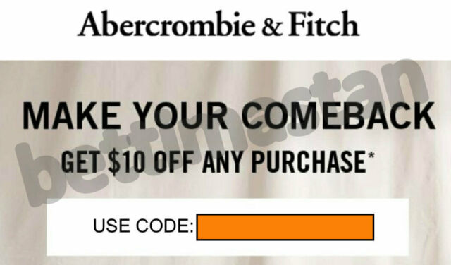 coupon code abercrombie free shipping