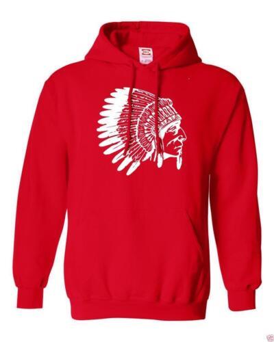 NW MENS PRINTED GRAPHIC Native American TRIBAL FASHION ART VINTAGE FLEECE HOODIE