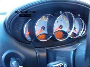 FOR PORSCHE 911 996 SPEEDO GAUGE RINGS SURROUNDS SET OF 5 Brushed Matt Aluminium