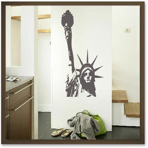 Freiheitsstatue  Miss Liberty II Wandtattoo 118x58 NEU