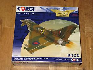 Corgi-Aviation-1-72-Typhoon-Eurofighter-FGR-4-ZK349-batalla-de-Gran-Bretana-esquema-MIB